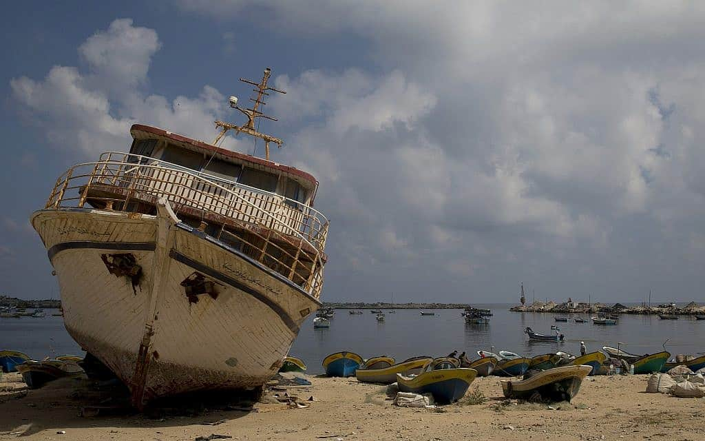סירות דיג בעזה, 2019 (צילום: AP Photo/Hatem Moussa)