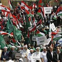 הפגנה בלבנון נגד פסגת בחריין (צילום: AP Photo/Bilal Hussein)