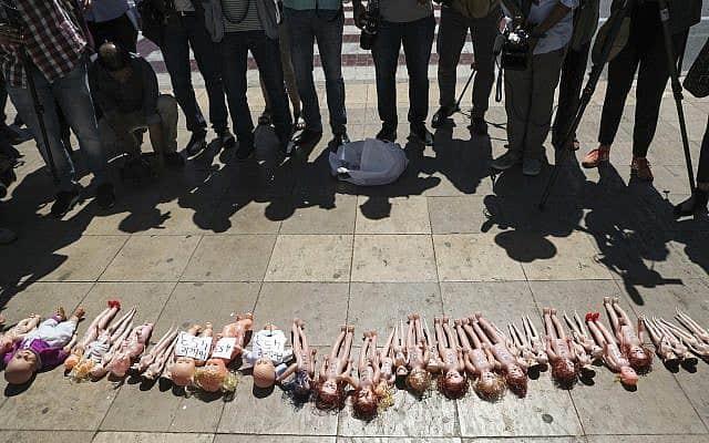 הפגנה למען הפלות במרוקו, 2019 (צילום: AP Photo/Mosa'ab Elshamy)