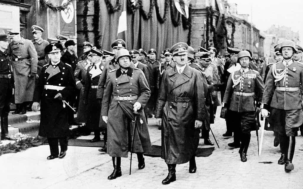 הנאצים פולשים לליטא, 1939 (צילום: AP)