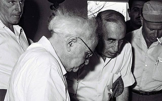 פרופסור יוחנן רטנר וראש הממשלה דוד בן גוריון (צילום: כהן פריץ, לע״מ)