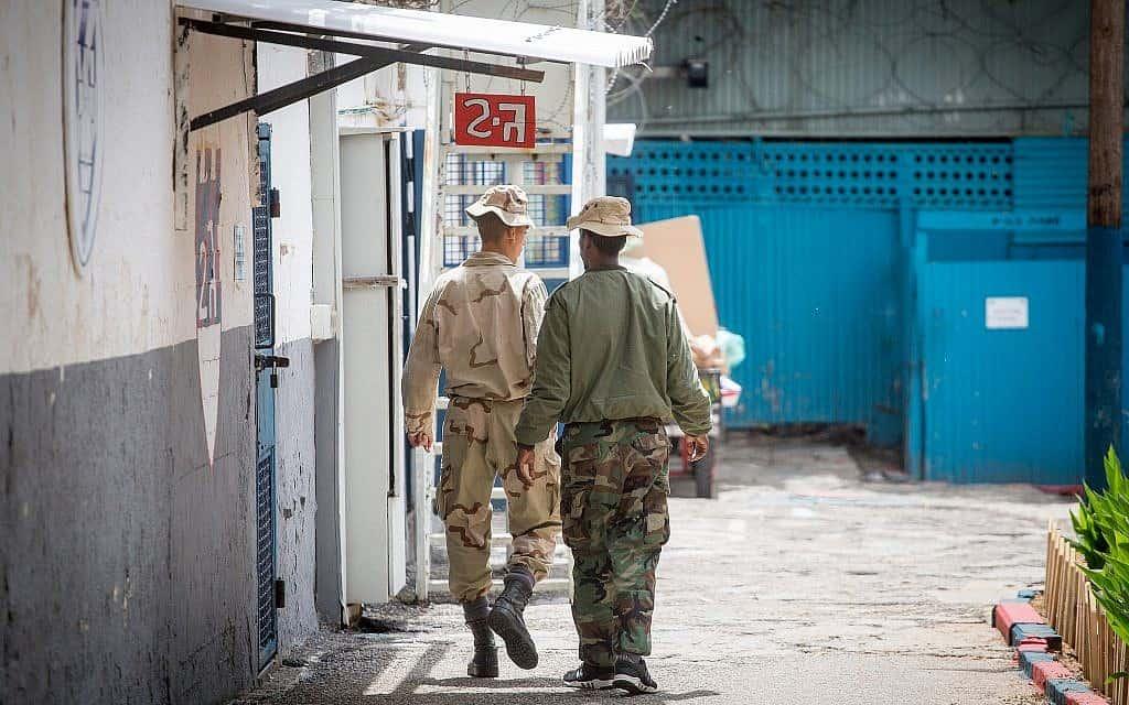 עצורים בכלא 4 (צילום: מרים אלסטר/פלאש90)