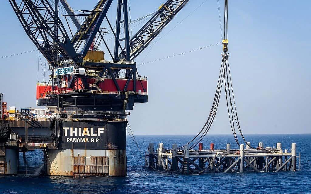 אסדת גז טבעי לוויתן (צילום: Marc Israel Sellem/POOL)