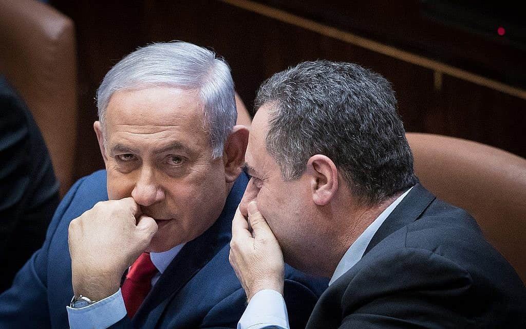 ישראל כ״ץ ובנימין נתניהו (צילום: יונתן זינדל/פלאש90)