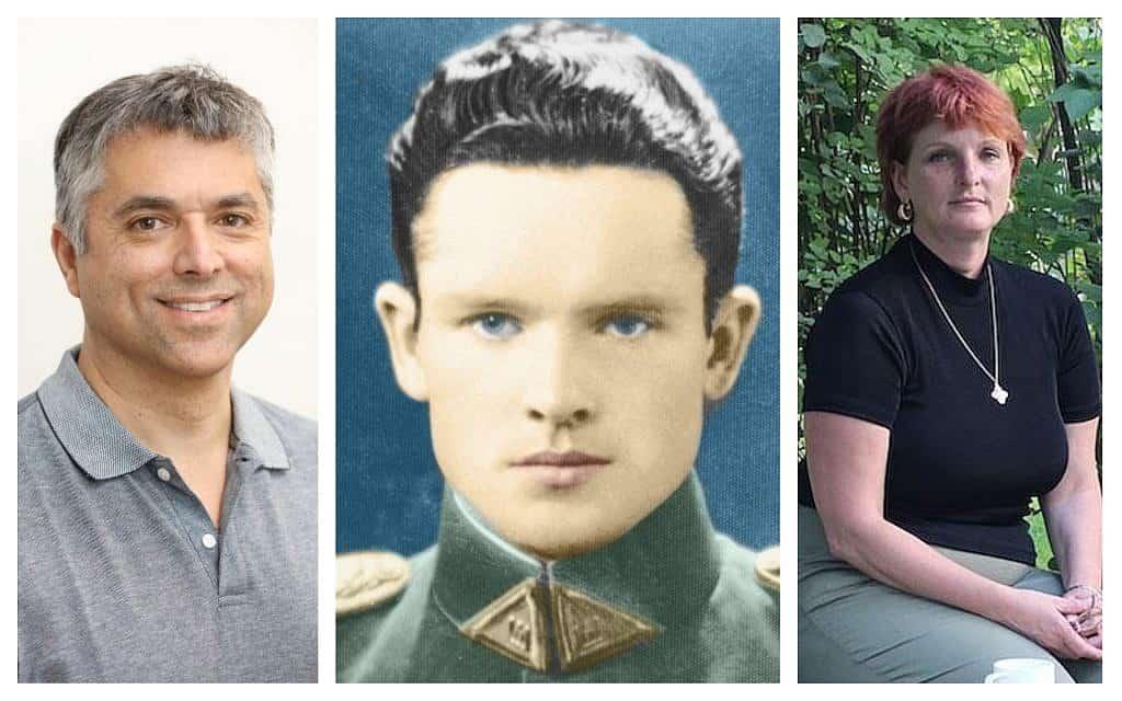 משמאל: גרנט גוצ'ין, יונאס נורייקה, המואשם בשיתוף פעולה, ונכדתו סילביה פוטי (צילום: Courtesy, ארכיון סילביה פוטי)