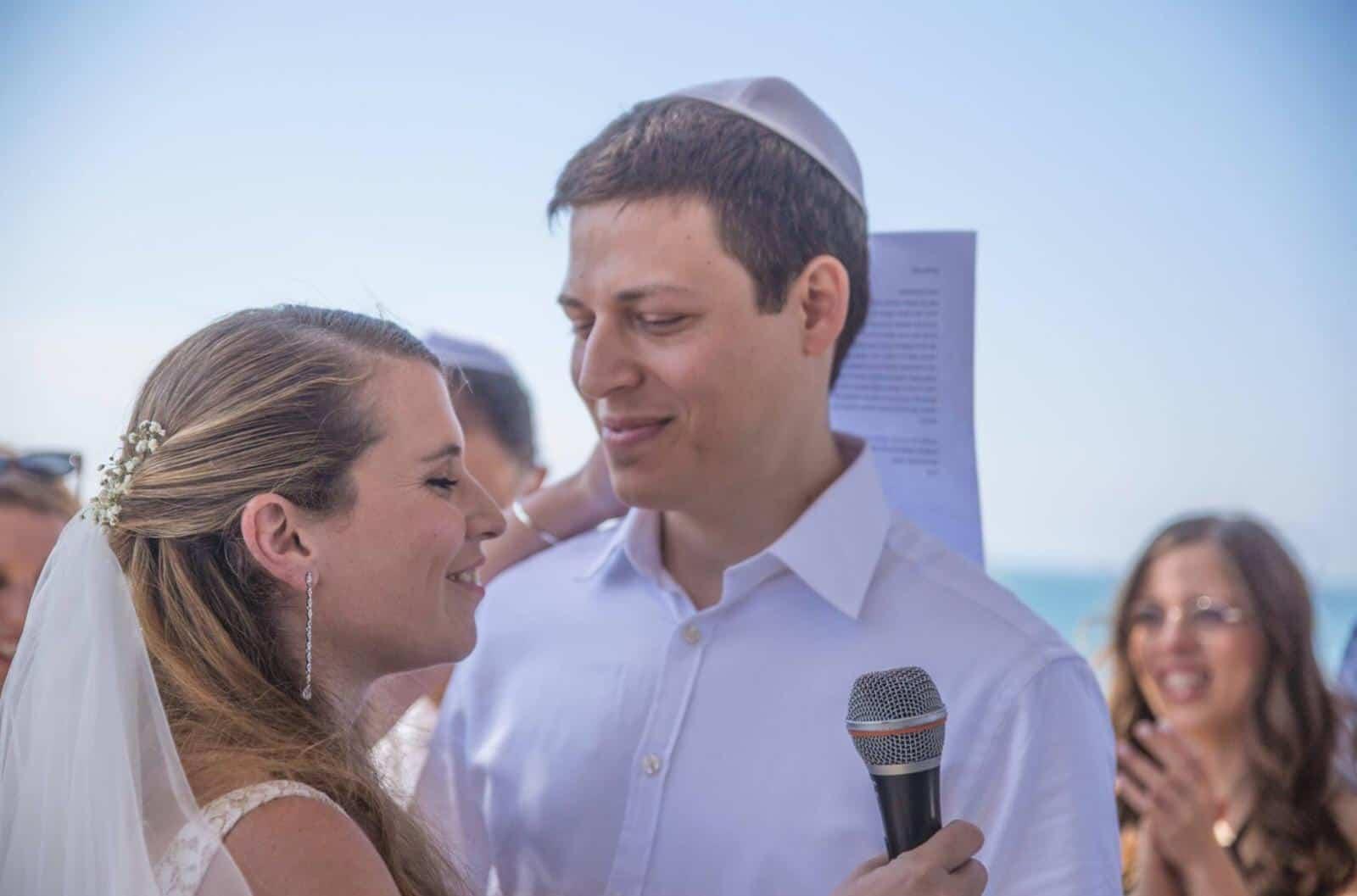 עירא קראוס ותומר לוין ביום נישואיהם
