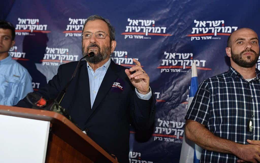 אהוד ברק בכולי עלמא, 17 ביולי 2019 (צילום: מפלגת ישראל דמוקרטית)