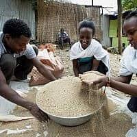 משפחה מבני הפלאשמורה בגונדר, אתיופיה (צילום: משה שי, פלאש 90)