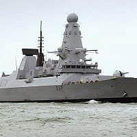 ספינת הקרב הבריטית HMS (צילום: בן סוטון, משרד ההגנה הבריטי, דרך AP)