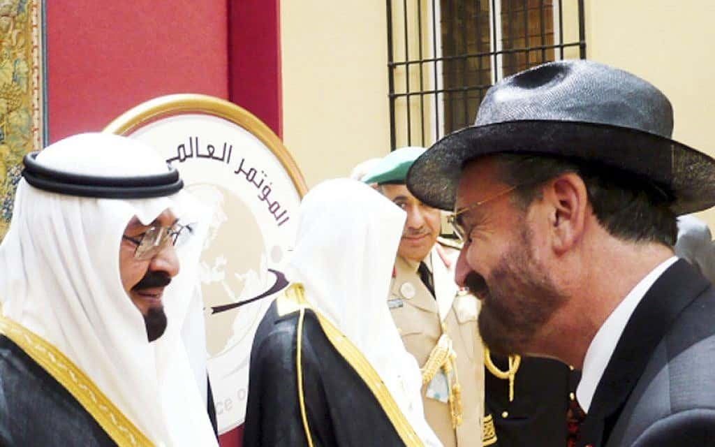 David Rosen with King Abdullah.Picture Supplied