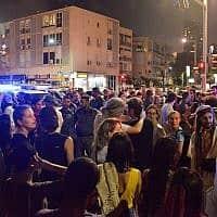 מחאה נגד ביטול פסטיבלי הטראנס (צילום: אדם שולמן, פלאש 90)