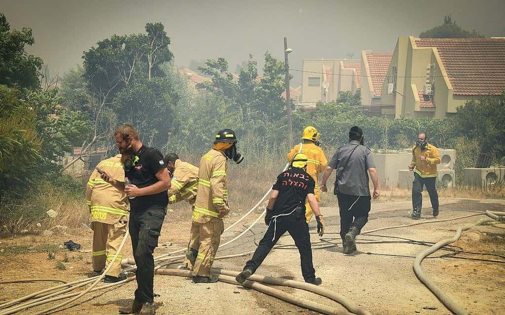 שריפה בשבי שומרון, 17 ביולי, 2019 (צילום: Sraya Diamant/Flash90)