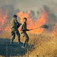 שריפה עזה (צילום: משה שי, פלאש 90)