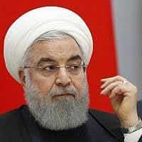 נשיא איראן, חסן רוחאני (צילום: AP/Sergei Chirikov)