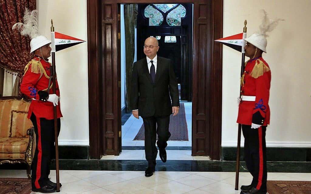 נשיא עיראק, ברהם סאלח, מרץ 2019 (צילום: AP Photo/Khalid Mohammed)
