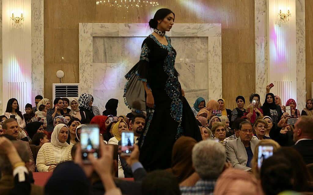 תצוגת אופנה בעיראק, אפריל 2019 (צילום: AP Photo/Hadi Mizban)