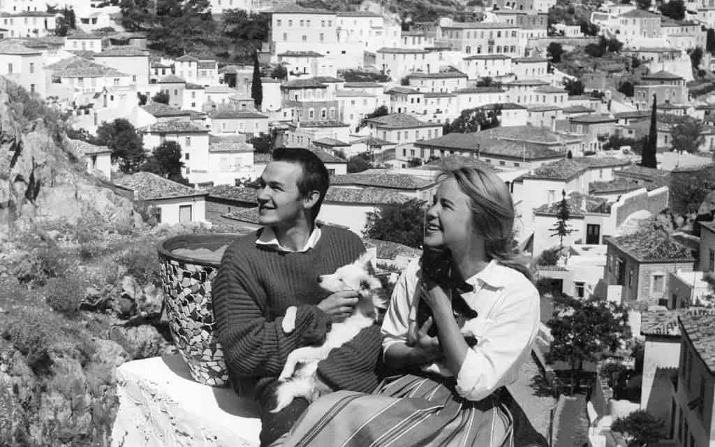 מריאן אילן ובעלה הראשון אקסל ג'נסן, הידרה, 1958 (צילום: AP)