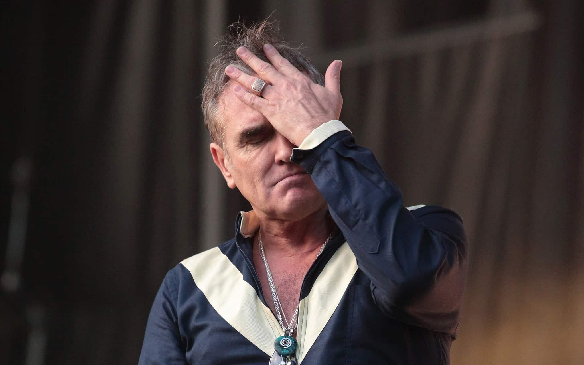 מוריסי בהופעה, בפסטיבל פיירפליי 2015 (צילום: Owen Sweeney/Invision/AP)