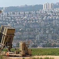 מערכת כיפת ברזל ליד חיפה, 2013 (צילום: גיל יערי פלאש 90)