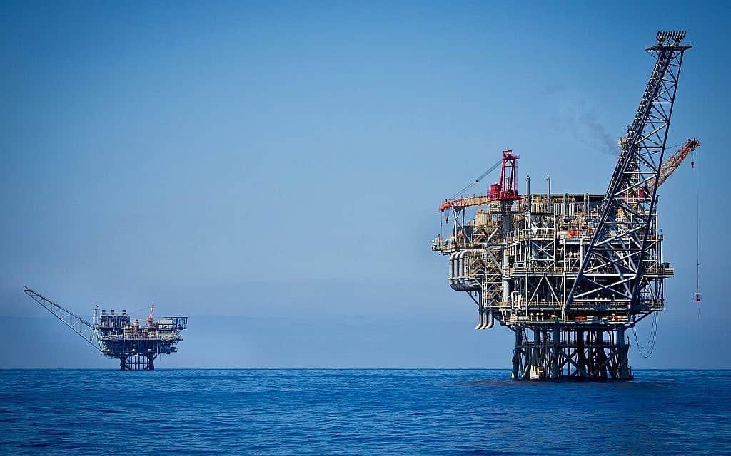 """אסדת הגז תמר, כ-24 ק""""מ מחוף אשקלון (צילום: משה שי/פלאש90)"""