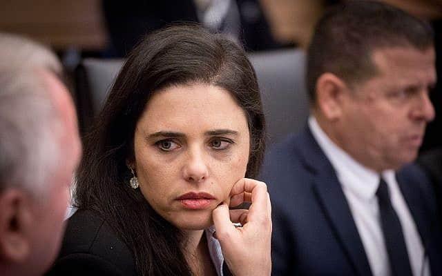 איילת שקד בוועדת הכלכלה בכנסת, בדצמבר 2018 (צילום: מרים אלסטר/פלאש90)