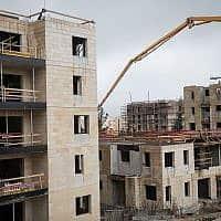 אתר בנייה של מחיר למשתכן בארמון הנציב, ירושלים, 2019 (צילום:  Hadas Parush/ Flash90 )