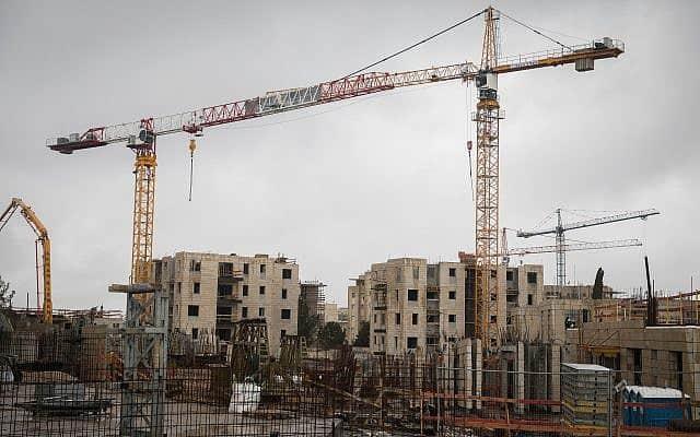 אתר בנייה. מיסוי יבוא הבטון צפוי להעלות את מחירי הבנייה (צילום: Hadas Parush/ Flash90 )