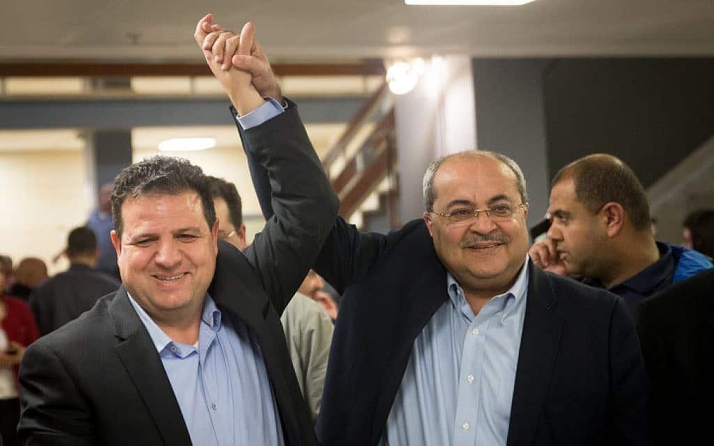 אחמד טיבי ואיימן עודה (צילום: יונתן זינדל/פלאש 90)