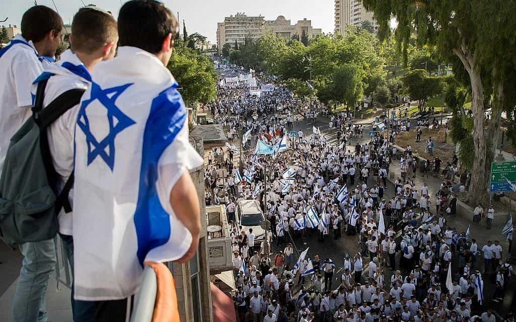 יום ירושליים 2019, למצולמים אין קשר לנאמר בכתבה (צילום: יונתן סינדל פלאש 90)
