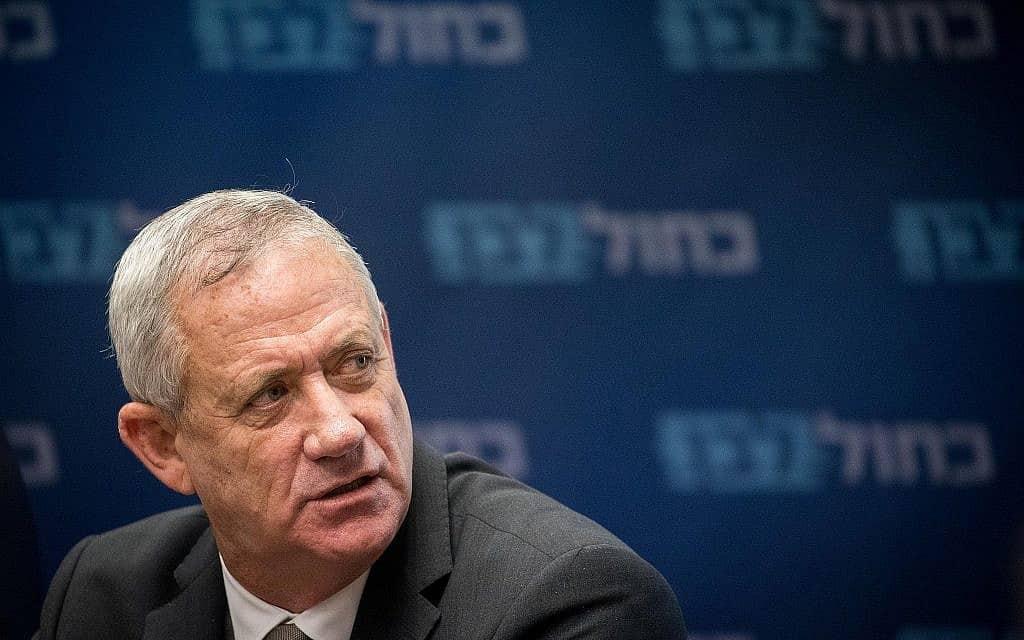 יושב ראש כחול לבן, בני גנץ (צילום: יונתן סינדל/פלאש90)
