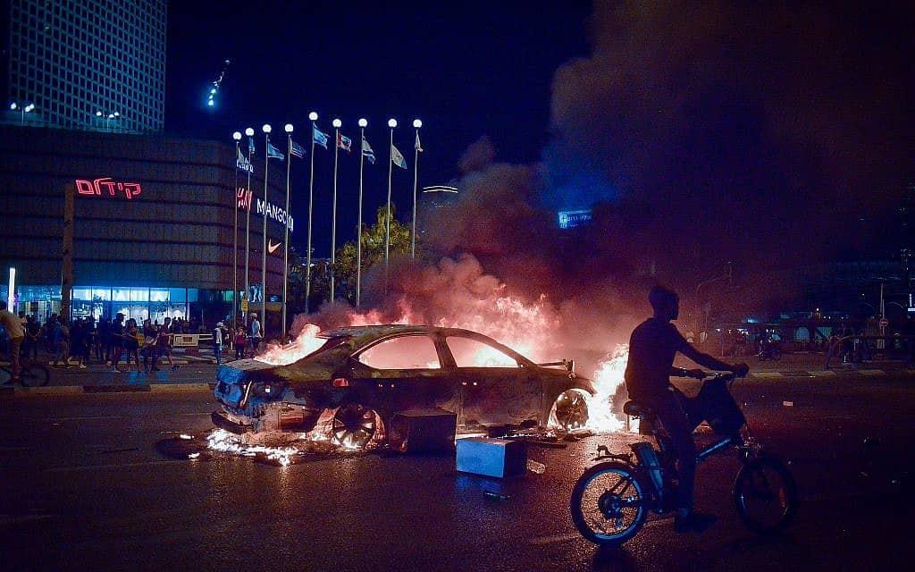 מחאת יוצאי אתיופיה בעקבות הריגתו של סלמון טקה (צילום: אדם שולדרמן/פלאש90)