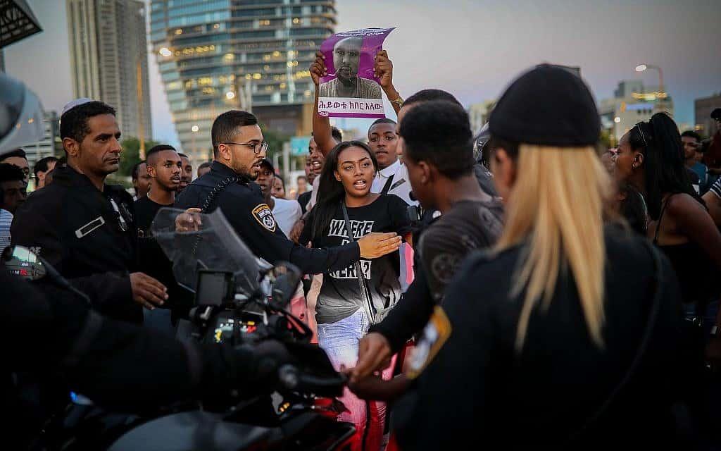 מחאת יוצאי אתיופיה (צילום: Hadas Parush/Flash90)