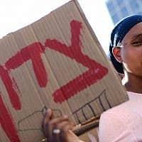 מחאת יוצאי אתיופיה (צילום: Tomer Neuberg/Flash90)