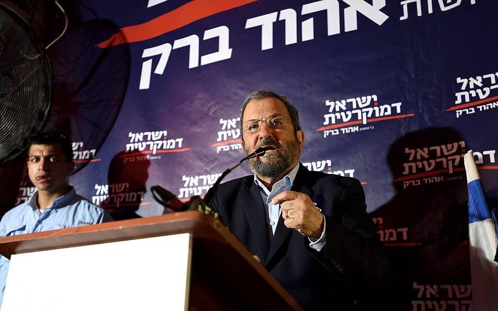 אהוד ברק מגיב לפרסומים אודותיו במפגש עם פעילים בתל אביב (צילום: גילי יערי/פלאש90)