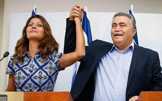 עמיר פרץ ואורלי לוי-אבקסיס מכריזים על איחוד ב-18 ביולי 2019 (צילום: רועי אלימה/פלאש90)