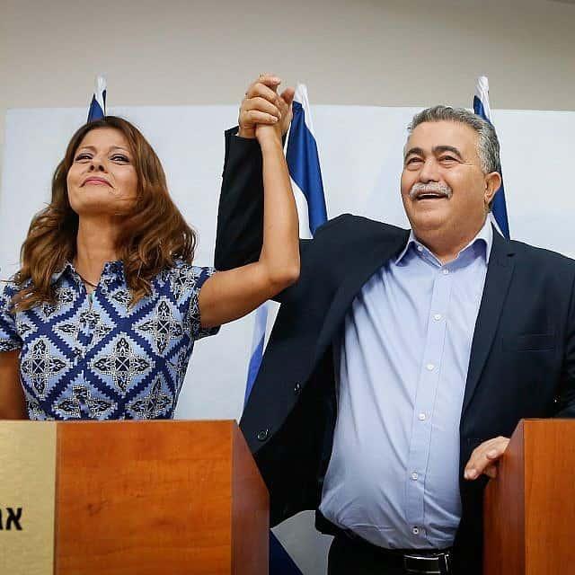 עמיר פרץ ואורלי לוי-אבקסיס מכריזים על איחוד (צילום: רועי אלימה/פלאש90)