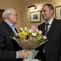 מיכאל גורבצ'וב עם דן פרי