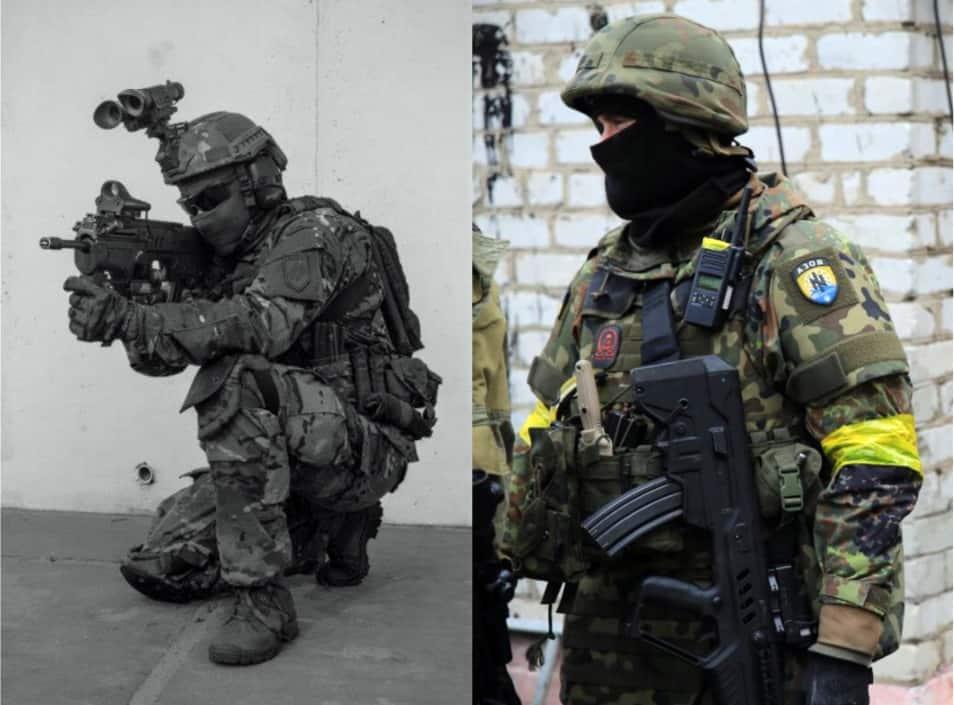 חיילי מיליציית ״אזוב״ נושאים רובה תבור