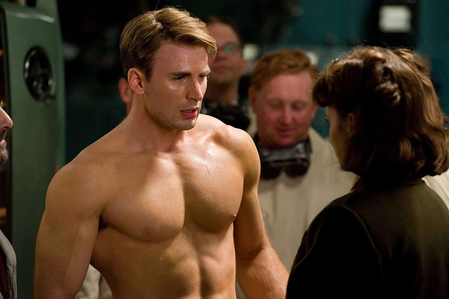 """כריס אוונס בקפטן אמריקה (צילום: יח""""צ, MARVEL ENTERTAINMENT)"""