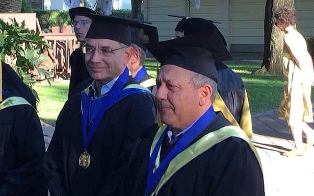 גדי אייזנקוט מקבל תואר דוקטור לשם כבוד במרכז הבינתחומי בהרצליה (צילום: שלום ירושלמי)