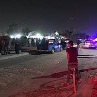 כוחות ביטחון עירקיים באזור שבו אירע פיצוץ בבגדד, צילום ארכיון (צילום: Ali Abdul Hassan, AP)