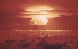 ניסוי אמריקאי בנשק גרעיני באיי מרשל, 1954 (צילום: (צילום: ויקישיתוף/מחלקת האנרגיה של ארצות הברית))