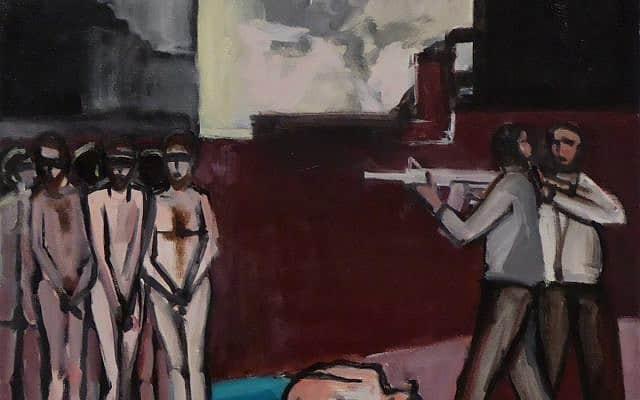 רצח אנשי שכם, ציור: ריצ'רד מק'בי