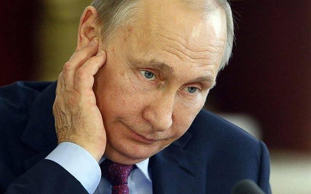 ולדימיר פוטין (צילום: (Sergei Chirikov/Pool Photo via AP))