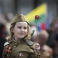 ליטא מציינת 74 שנה לתום מלחמת העולם השנייה, מאי 2019 (צילום: AP Photo/Mindaugas Kulbis)