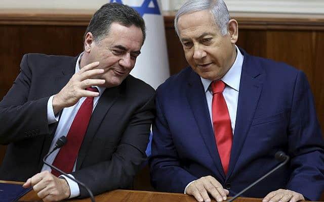 בנימין נתניהו וישראל כ״ץ (צילום: Gali Tibbon/Pool Photo via AP)