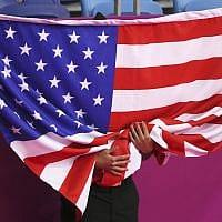 דגל ארצות הברית (צילום: AP Photo/Fernando Llano)