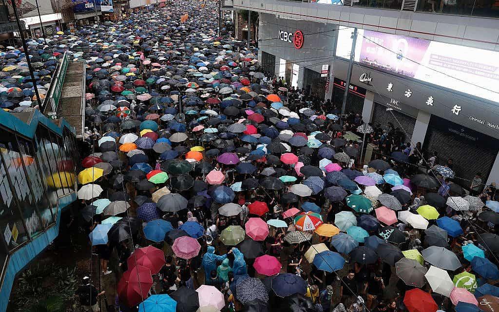 הפגנות בהונג קונג (צילום: AP Photo/Vincent Yu)