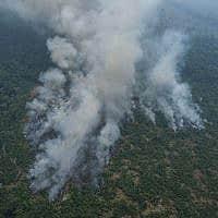 אמזונס עולה באש (צילום: AP Photo/Victor R. Caivano)
