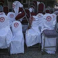 אולם החתונה שבו אירע הפיגוע (צילום: Rafiq Maqbool, AP)